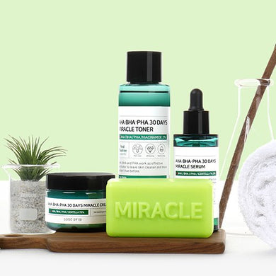 [SOME BY MI] AHA BHA PHA CLEANSING BAR + TONER + SERUM + CREME [40% OFF] - kmade cosméticos coreanos