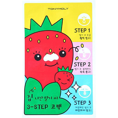 [TONYMOLY] Runaway Strawberry Seeds 3 Step Nose Pack - kmade cosméticos coreanos