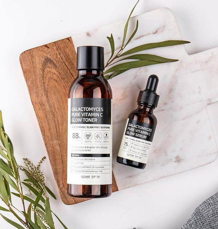 [SOME BY MI] Galactomyces Pure Vitamin C Toner (200ml) + Galactomyces Pure Vitamin C Serum (30ml) (40%OFF) - kmade cosméticos coreanos
