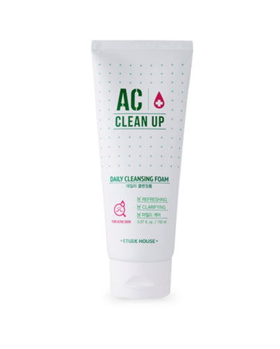 [ETUDE HOUSE] AC Clean Up Daily Cleansing Foam - 150ml - kmade cosméticos coreanos