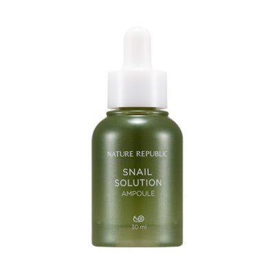 [NATURE REPUBLIC] Snail Solution Ampoule - 30ml - kmade cosméticos coreanos