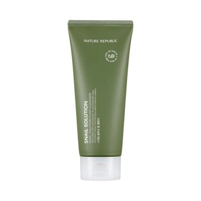 NATURE REPUBLIC] Snail Solution Foam Cleanser - 150ml - kmade cosméticos coreanos