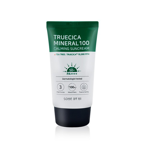 [SOME BY MI] Truecica Mineral 100 Calming Suncream 50PA++++ - 50ml - kmade cosméticos coreanos