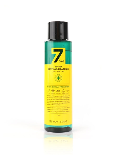 [MAY ISLAND] 7 Days Secret Centella Cica Toner - 155ml (30%OFF) - kmade cosméticos coreanos