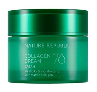 [NATURE REPUBLIC] Collagen Dream 70 Cream - 50ml - kmade cosméticos coreanos
