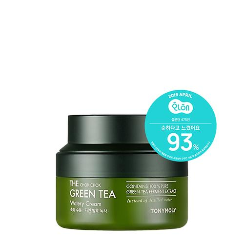 [TONYMOLY] The Chok Chok Green Tea Watery Cream - 60ml - kmade cosméticos coreanos