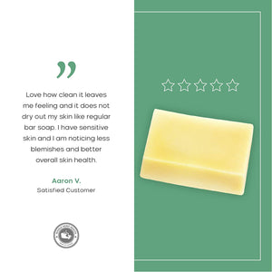 Natural Bar Soap for All Skin Types with Organic Hemp Oil, Olive Oil, Cocoa Butter, Castor Oil & Beeswax - 3.17 OZ.