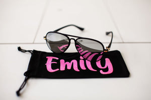 Midnight Black sunglasses/ Case