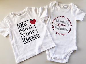 Mummy's Little Valentine bodysuit