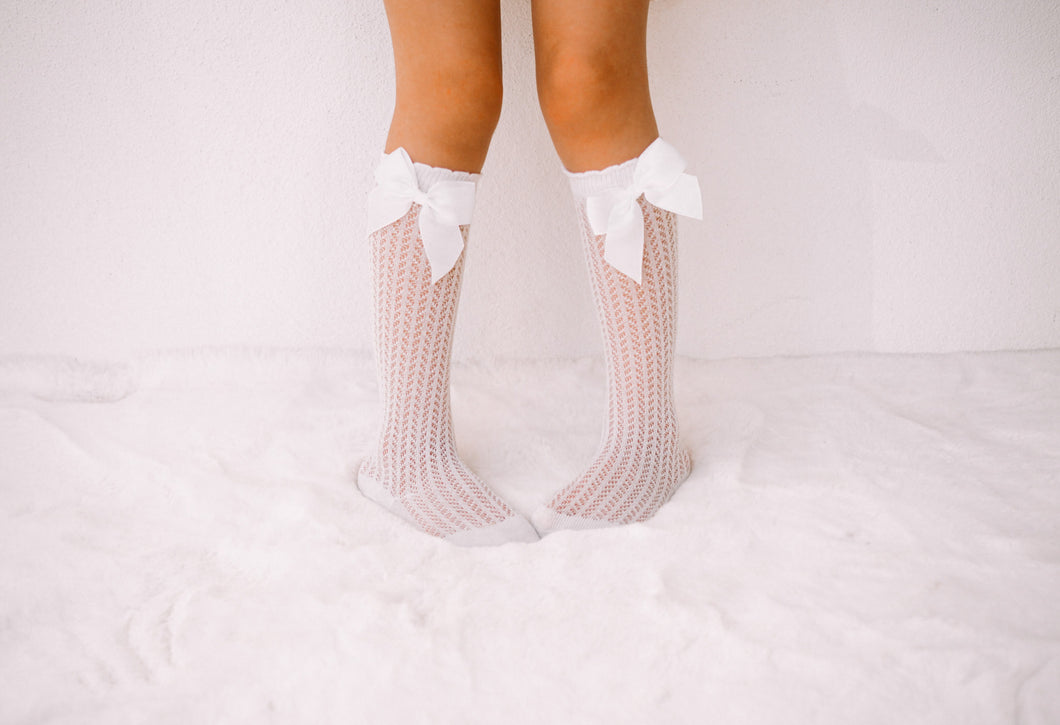High socks - Bow