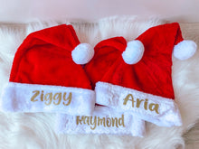 Load image into Gallery viewer, Personalised Santa hats