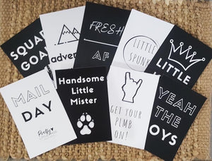 Handsome Little Mister Flatlay cards