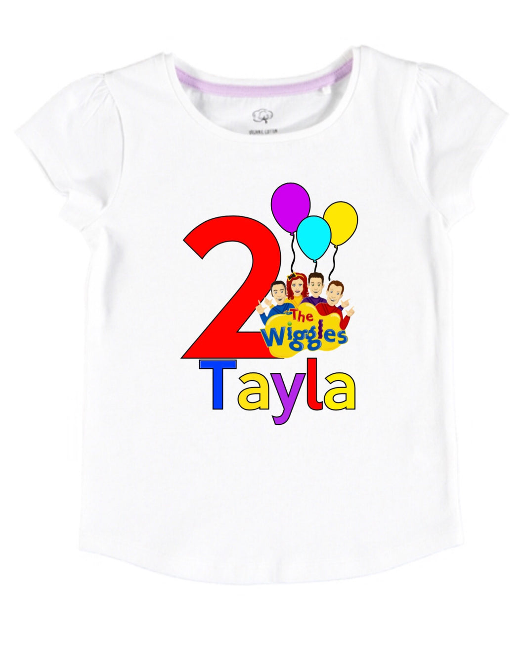 Wiggles birthday tee