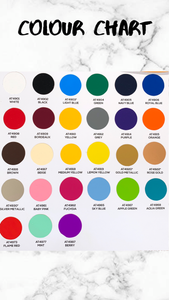 Vinyl colour choices