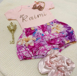 "Princess ""Name"" bodysuit/Flutter"