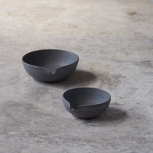 Load image into Gallery viewer, beaked bowls in fog // set of two