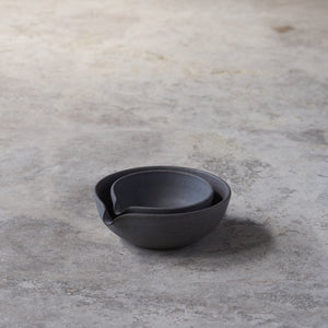 beaked bowls in fog // set of two