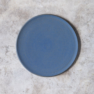large plate in denim blue