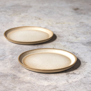salad plates in ochre // set of two