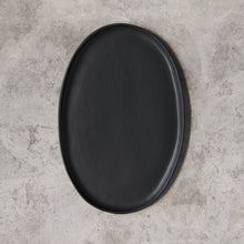 Load image into Gallery viewer, oval platter in black matte