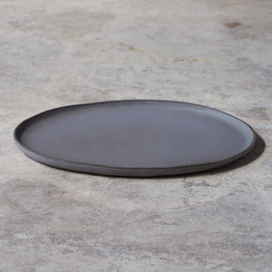 large oval platter in fog