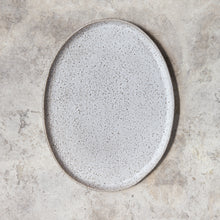 Load image into Gallery viewer, oval platter in rough white