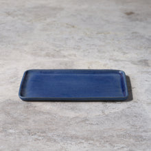 Load image into Gallery viewer, rectangular platter in denim blue