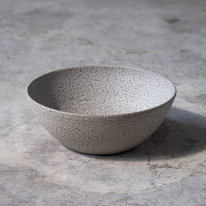 serving bowl in rough white