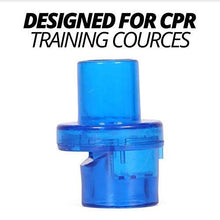 Load image into Gallery viewer, CPR 1 Way Valves - 50 Pack with Bonus Adult AED Pads