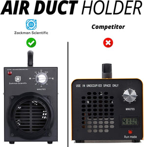 Zackman Scientific Odor Removal Ozone Generator with Air Duct Connector, 8000mg/h Ozone Output, 2 Hour Timer