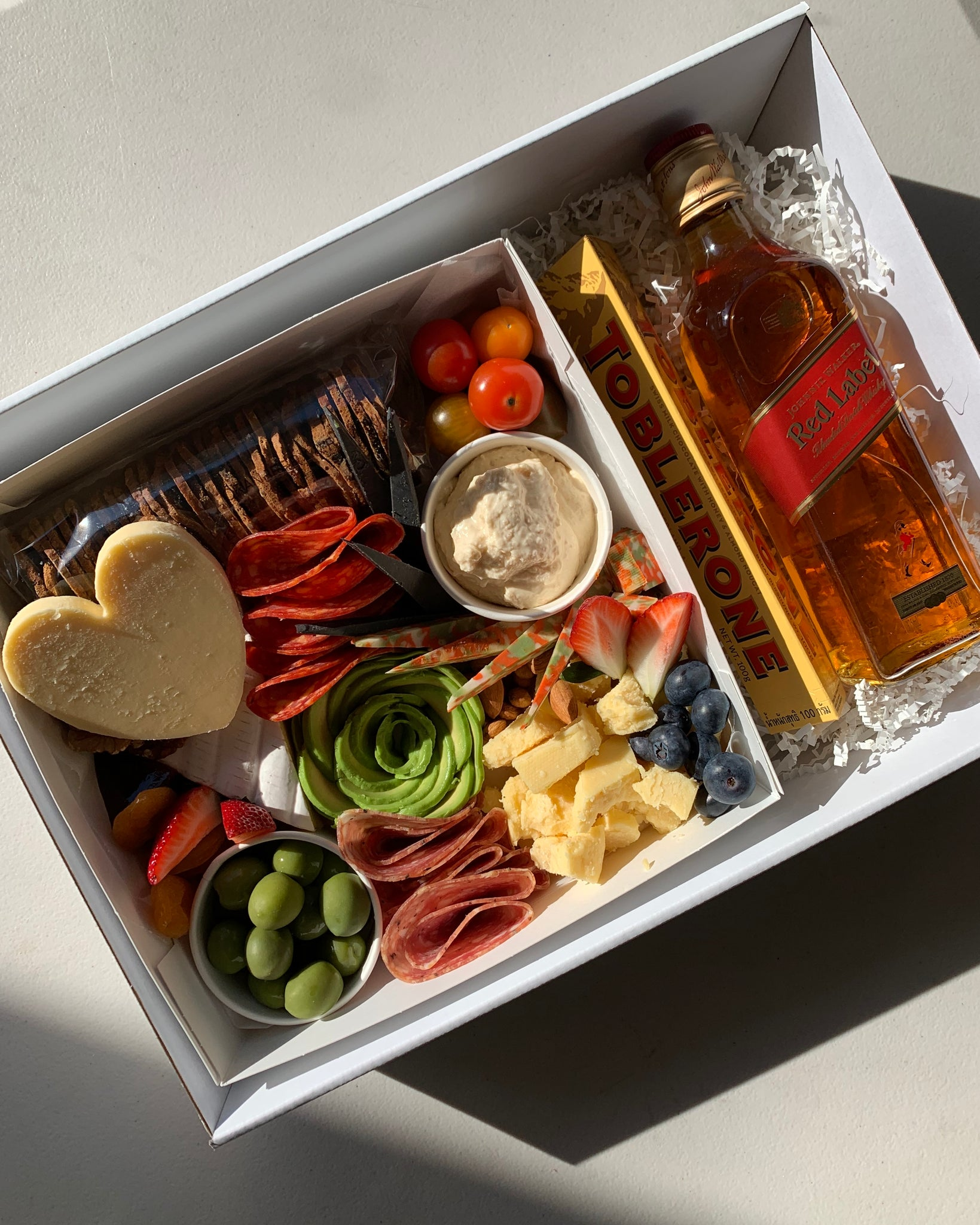 Father's Day Cheese Box + Johnnie Walker Red Label 375ml