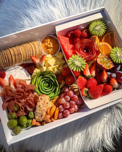 2 in 1 Medium Cheese & Fruit Box