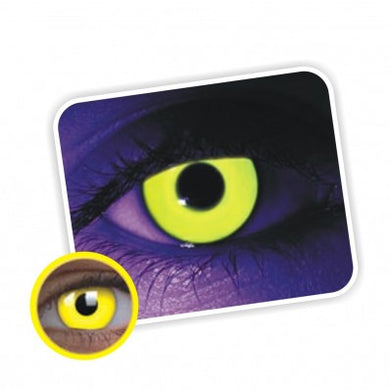 Contact Lense-Yellow UV Glow