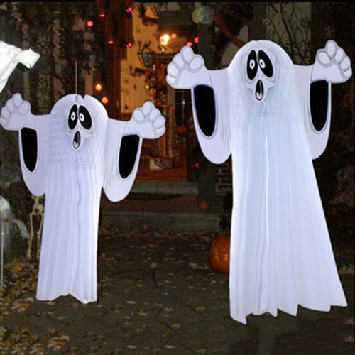 2 Sizes Paper Hanging Ghost Foldable