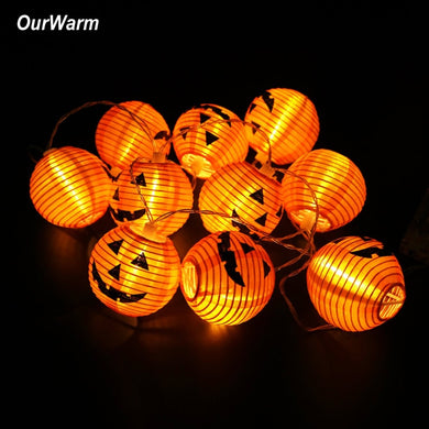 Pumpkin String Lights 3D Pumpkin 10 LED 1.2M Battery Operated