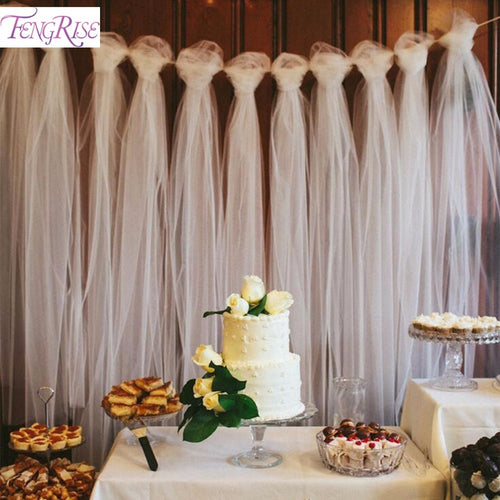 100 Yards Tulle Backdrop