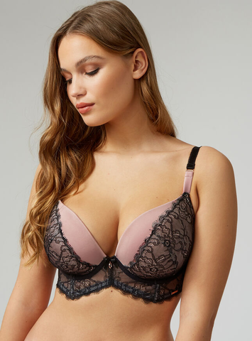 Boux Avenue- Pink and Black Mix Fuller Bust Bra