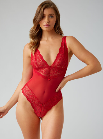 Boux Avenue- Chloe 'Strawberry' sheer fuller bust body
