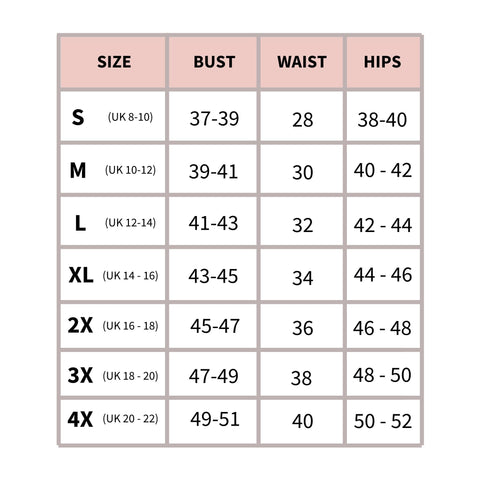 Taideux size chart