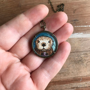 A Custom Design Hand Painted Watercolor Necklace of Your Choice