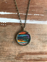 Load image into Gallery viewer, 17. Abstract Painting, Watercolor Hand Painted Necklace, Original Colorful Abstract Art Pendant