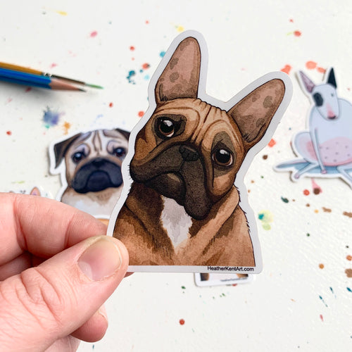French Bulldog Dog Vinyl Stickers, 3 inch, Doggos Sticker, FREE SHIPPING