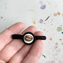 Load image into Gallery viewer, Coffee Bean Tie Clip, Original Hand Painted Tie Clip, unique gifts for men