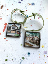 Load image into Gallery viewer, Custom Hand Painted Ornament, Original Watercolor Painting