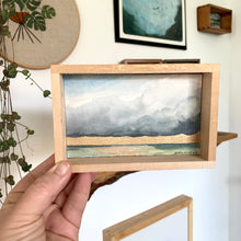 Load image into Gallery viewer, 3. Glory - Original Watercolor Box Painting, Rain Landscape Art