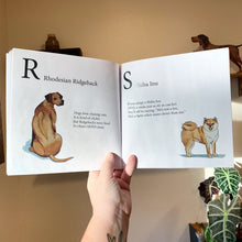 Load image into Gallery viewer, Paperback, Signed Copy, DOGGOS A to Z, A Pithy Guide to 26 Dog Breeds, SOFT COVER BOOK, FREE SHIPPING