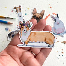Load image into Gallery viewer, Corgi Dog Vinyl Stickers, 3 inch, Doggos Sticker, FREE SHIPPING