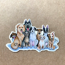 Load image into Gallery viewer, Mixed Breed Mutt Dog Love Vinyl Stickers, 3 inch, Doggos Sticker, FREE SHIPPING