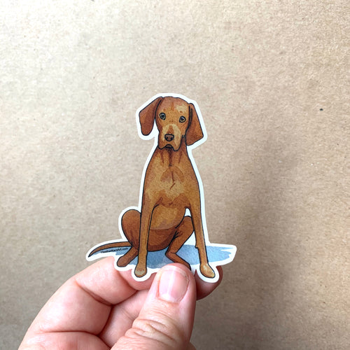 Vizsla Dog Love Vinyl Stickers, 3 inch, Doggos Sticker, FREE SHIPPING
