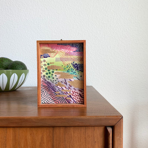 Glow -  Original Abstract Watercolor Box Painting